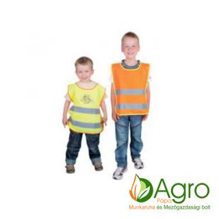 agro-munkaruha-es-mezogazdasagi-bolt-papa-Ardon gyermek jólláthatósági mellény H2069 méh mintával citromsárga