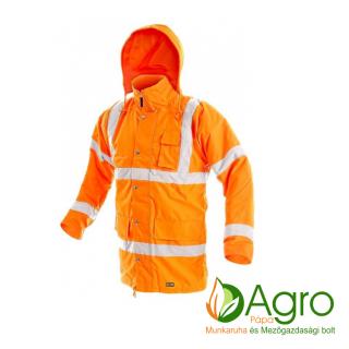 agro-munkaruha-es-mezogazdasagi-bolt-papa-CXS Cambridge bélelt jól láthatósági kabát, narancssárga