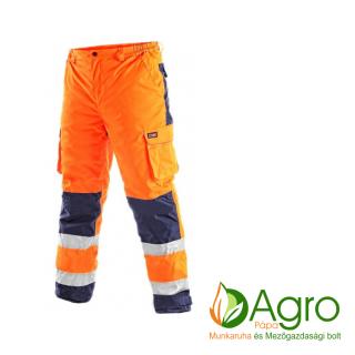 agro-munkaruha-es-mezogazdasagi-bolt-papa-CXS Cardiff bélelt jól láthatósági derekas nadrág, narancssárga-kék