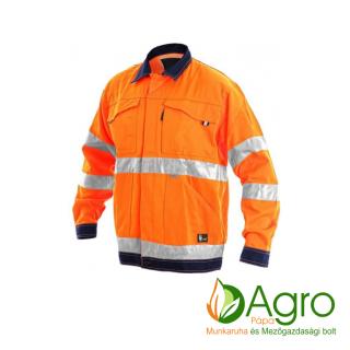 agro-munkaruha-es-mezogazdasagi-bolt-papa-CXS Norwich kabát, narancssárga-kék