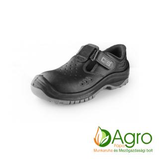 agro-munkaruha-es-mezogazdasagi-bolt-papa-CXS Safety Steel Iron S1 szandál- fekete