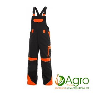 agro-munkaruha-es-mezogazdasagi-bolt-papa-CXS Sirius Brighton kertésznadrág, fekete-narancs