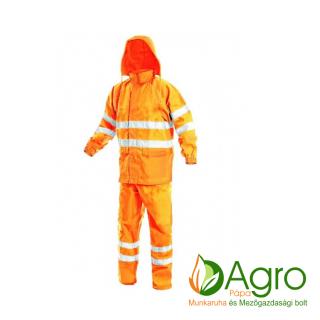 agro-munkaruha-es-mezogazdasagi-bolt-papa-York jól láthatósági esőöltöny, narancssárga